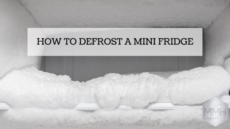 How to defrost a mini fridge