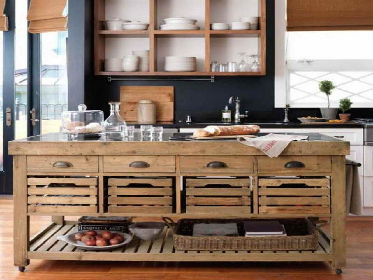 Cabinets and Drawers For Rustic Kitchens