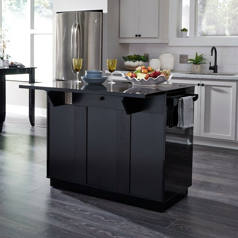Emblyn Kitchen Island with Solid Wood Top