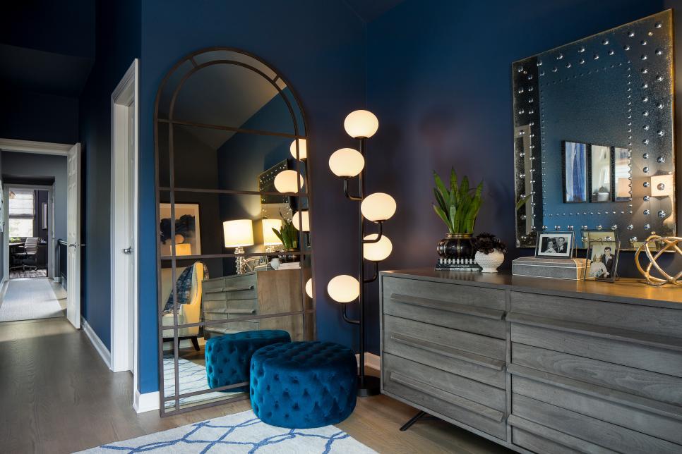 Modern Blue Master Bedroom