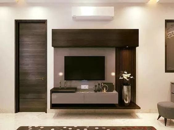 Modern TV Stand via Interior Designs