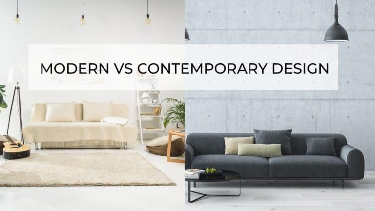 Modern Vs Contemporary