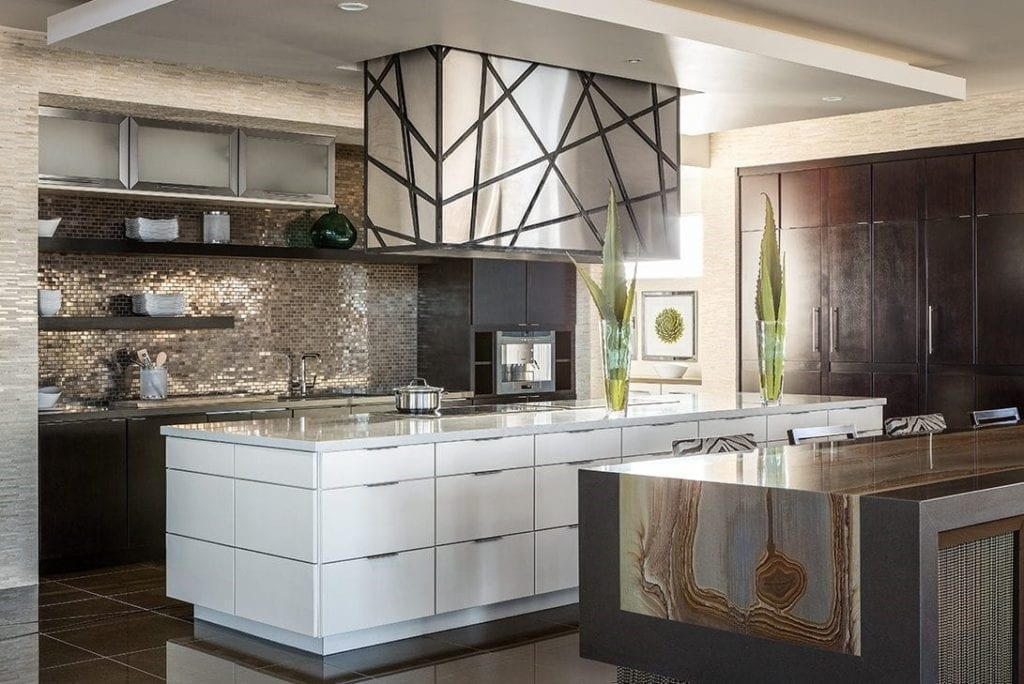 Modern kitchen with 2 islands via marc michaels