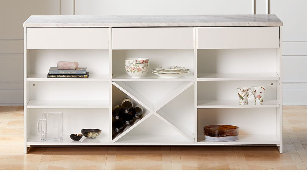 White Marble Tob Island XL from CB2