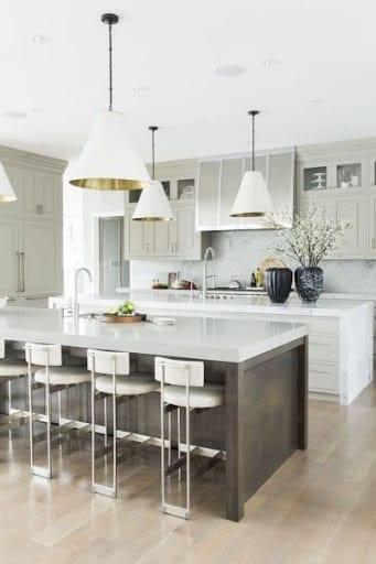 White modern kitchen via Elle