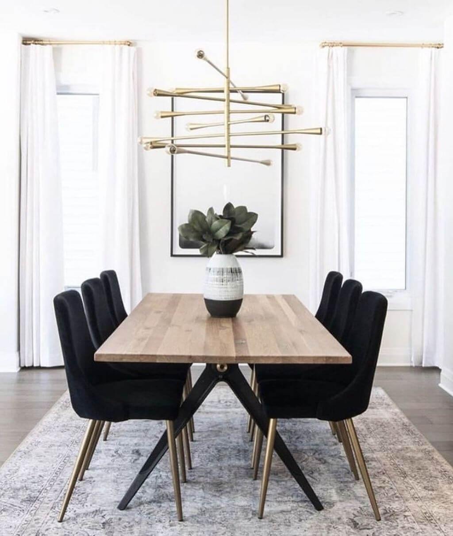 Black Minimalist Modern Dining Table
