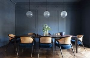 Blue-themed Modern Dining Table
