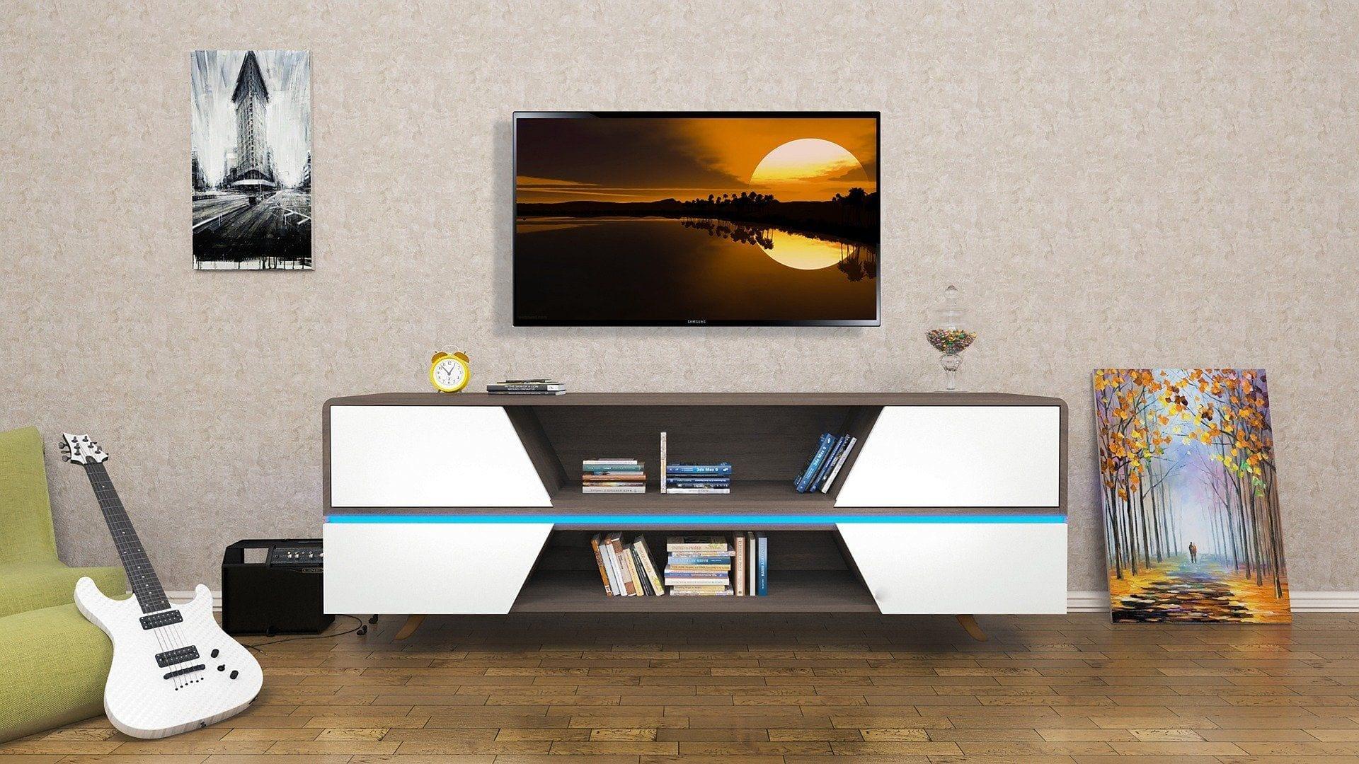 White Horizontal Dresser