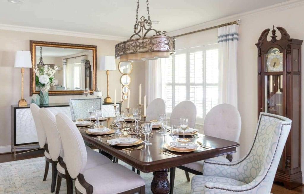 White Set Modern Dining Table