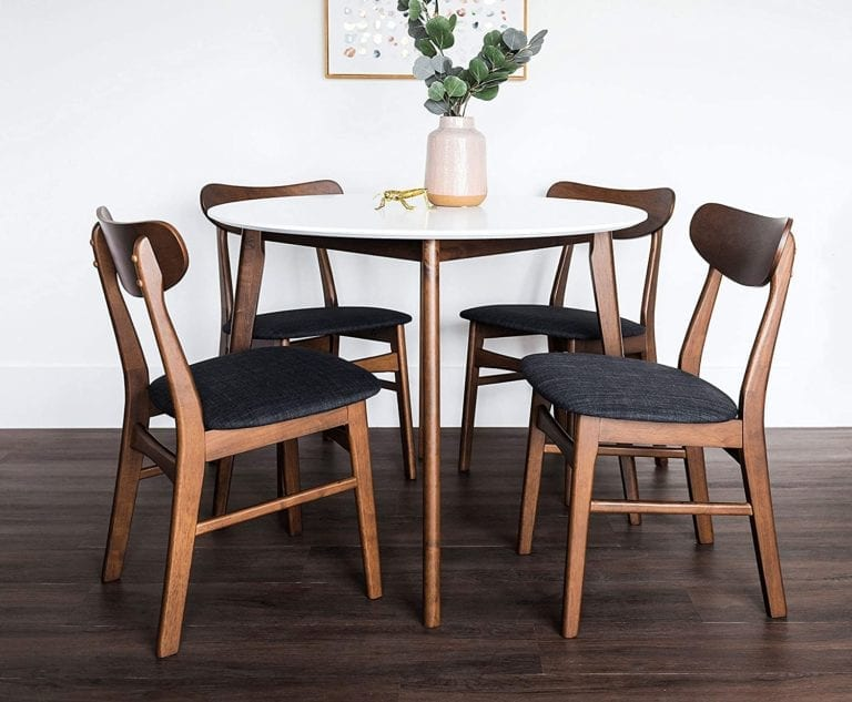 Black Brown Round Table