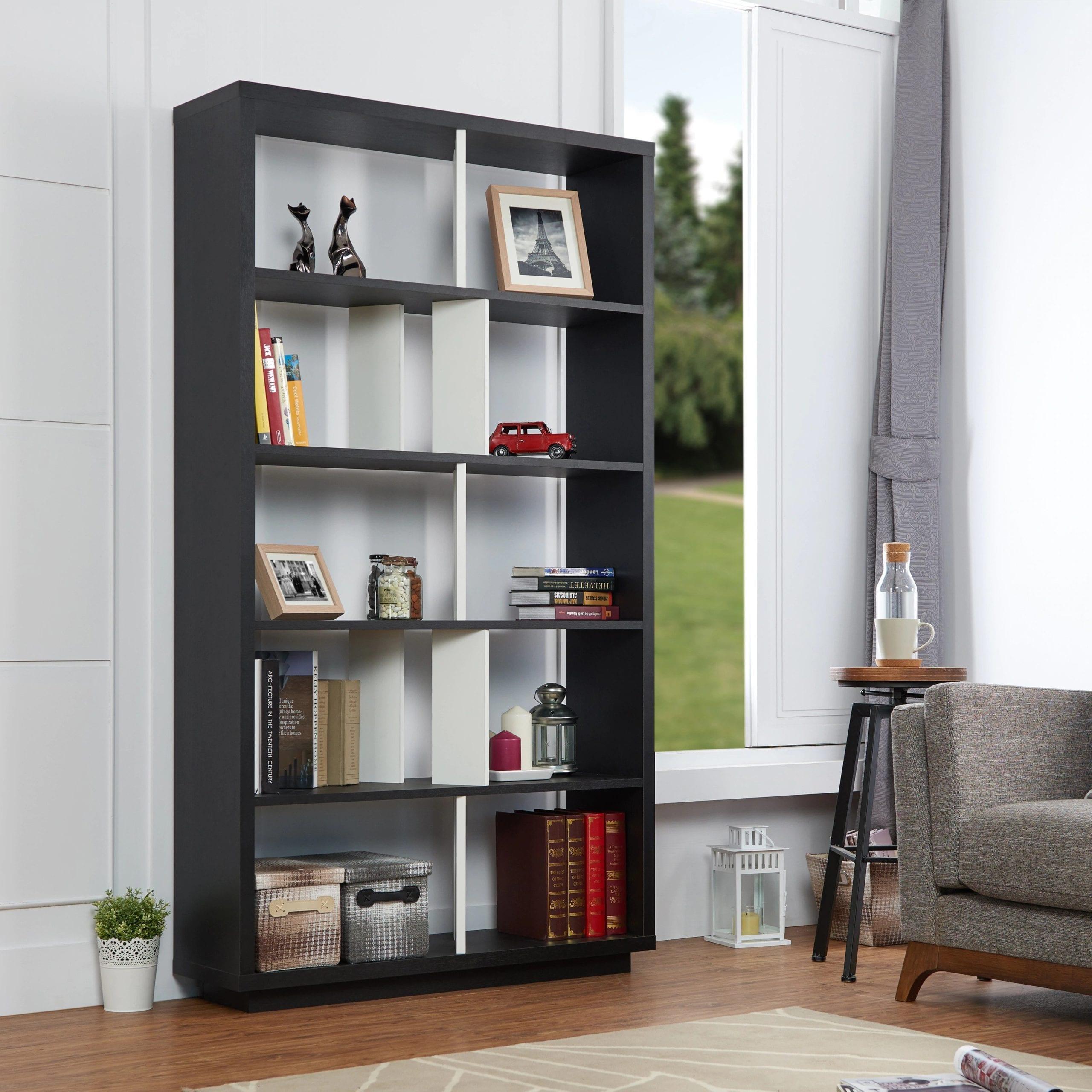 Black White Bookcase scaled