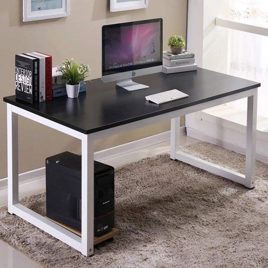 Black White Computer Desk