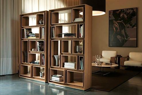 Brown Contemporary Bookcase