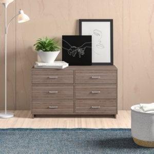 Chicopee Modern 6 Drawer Double Dresser