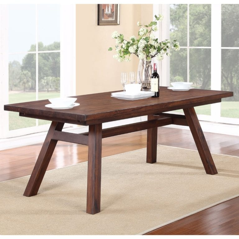Dark Brown Rectangular Table