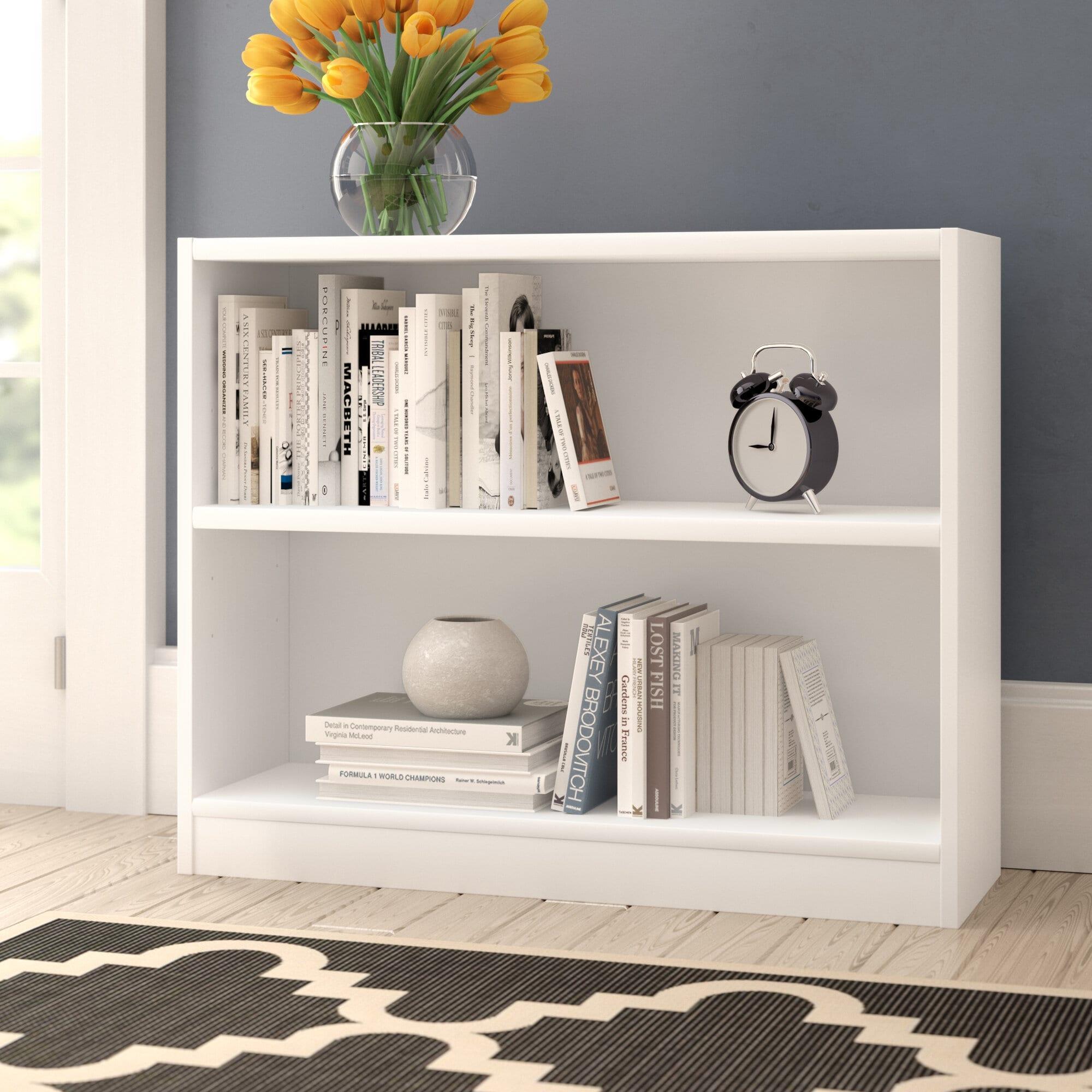 Rectangle White Bookcase