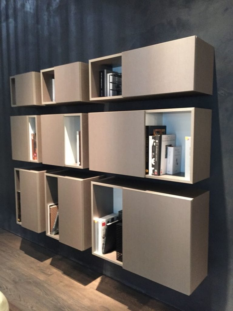 Wall floating bookcase