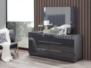 Warsaw modern dresser with mirror