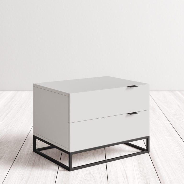 salem modern 2 drawer nightstand