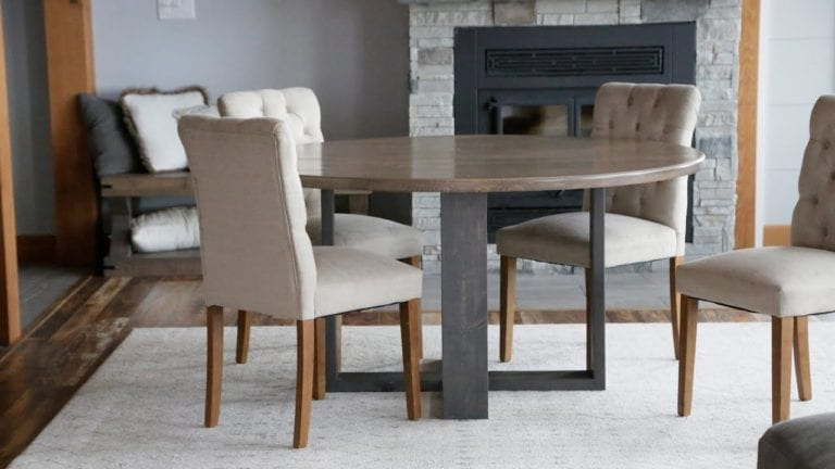 Ana White Round modern dining table