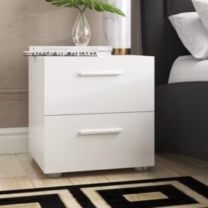 Modern nightstand 2 Drawer