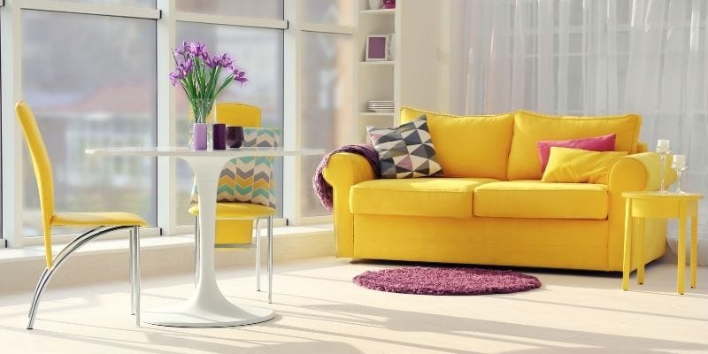 Yellow Modern Accent Chairs