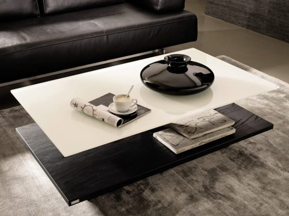 Black and white coffee tables