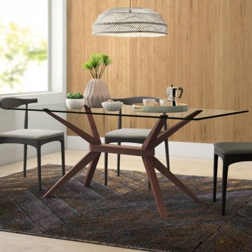 Lana+Glass+Wood+Kitchen+Table